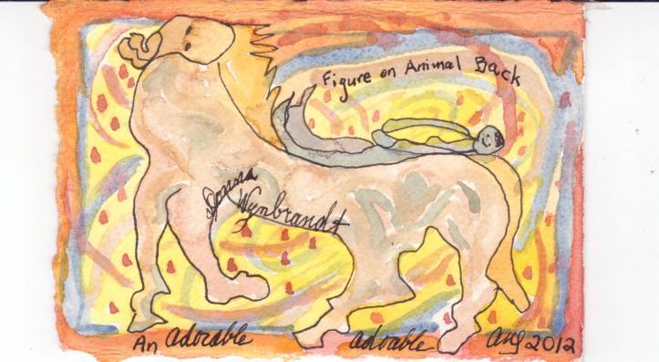figure on animal back