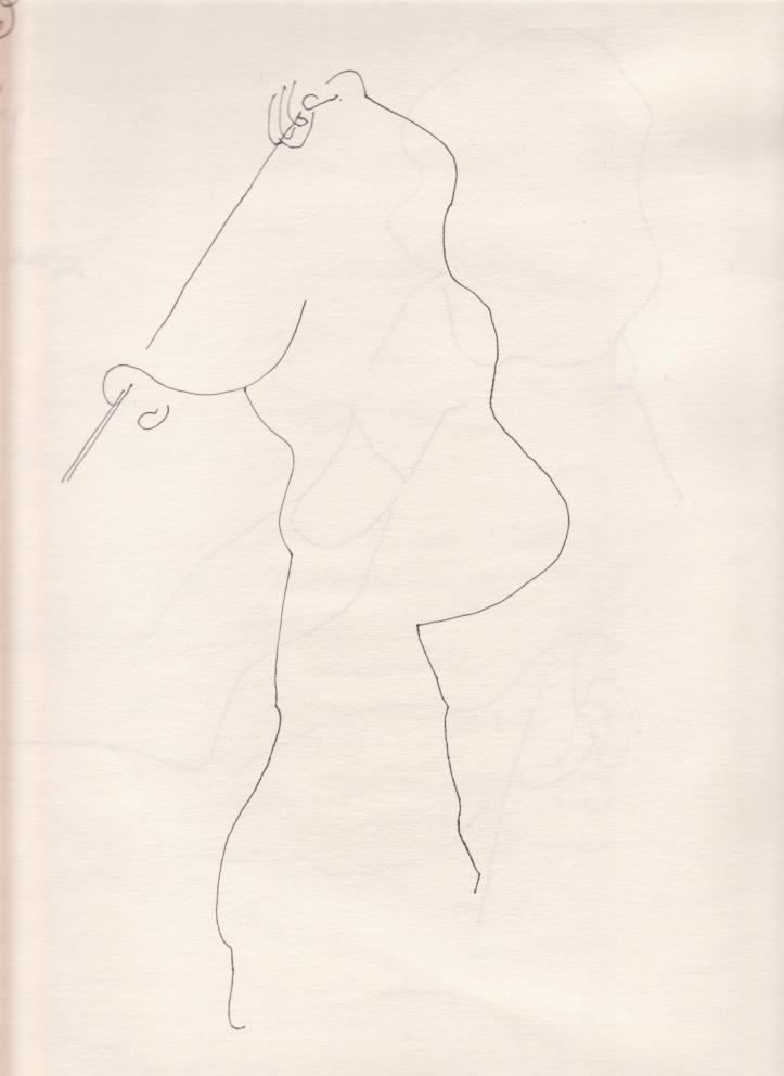 contour drawing of ellen faber 001