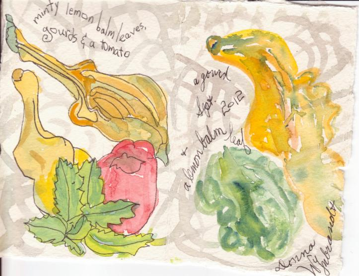 gourds, leaves, tomato 001