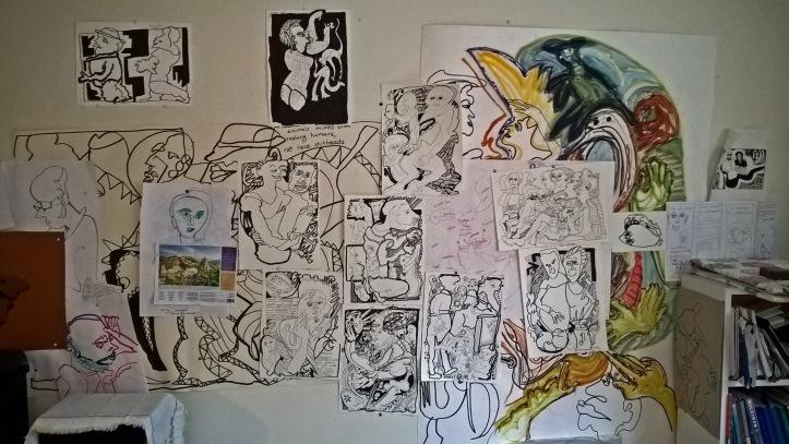 G Forss Art on Donnas wall 2019